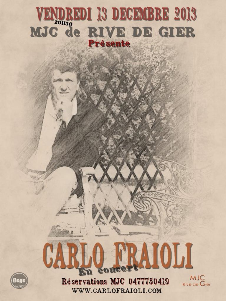 carlo fraioli en concert le 13 novembre 2013