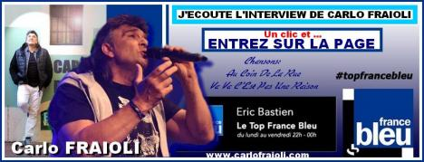 Ecoutez l interview top france bleu de carlo fraioli