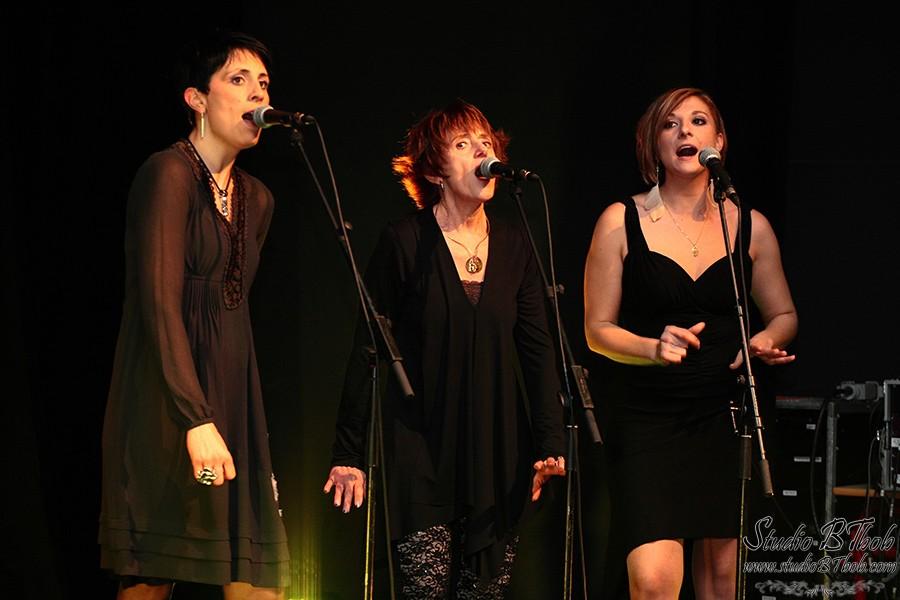 Les choristes dans le show